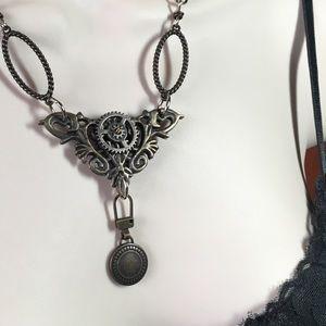 Steampunk Gear Goth Necklace